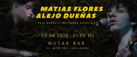 Matias Flores y Alejo Dueñas en Mutar