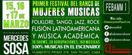 FEBAMM I Primer Festival del Banco de Mujeres Músicas