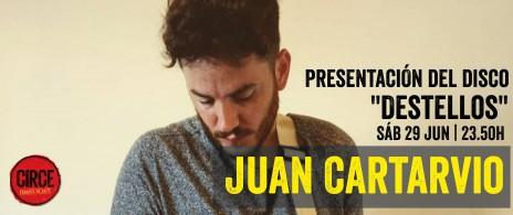 Presentacion del disco Destellos del artista Juan Cartarvio