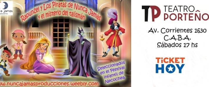Rapunzel y los piratas de Nunca Jamas, y el misterio del talisman