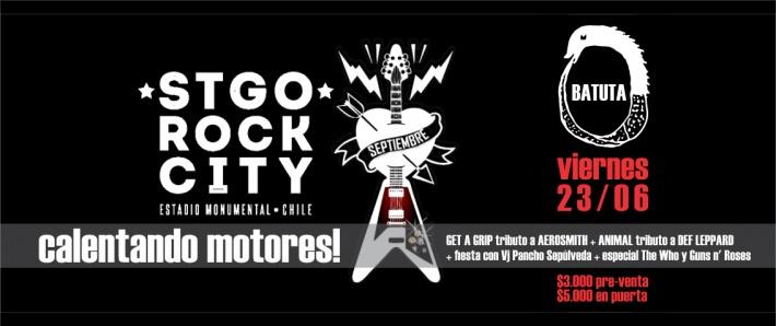 Santiago Rock City, calentando motores.