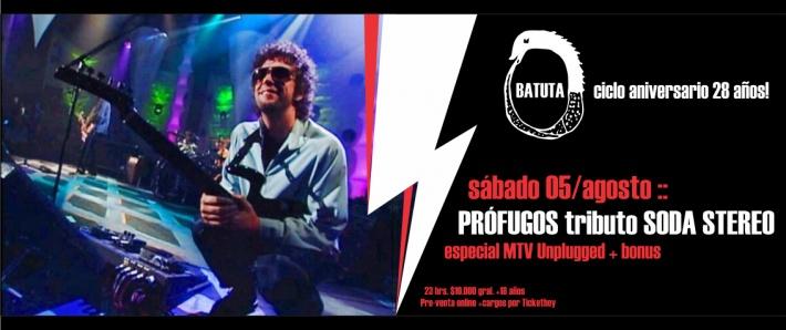 PRÓFUGOS tributo a SODA STEREO - Unplugged 05/08