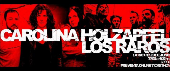 CAROLINA HOLZAPFEL TRIO + LOS RAROS / 29 junio BATUTA