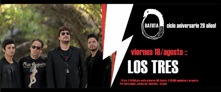 LOS TRES - 18 agosto Batuta