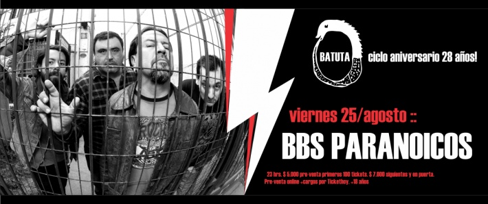 BBS PARANOICOS - 25 agosto Batuta