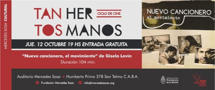 """Película """"Nuevo cancionero, el movimiento"""" - Ciclo de Cine Tantos Hermanos"""
