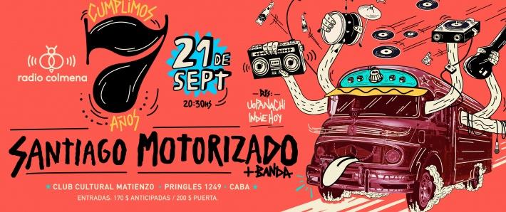 Radio Colmena 7 Años: Santiago Motorizado
