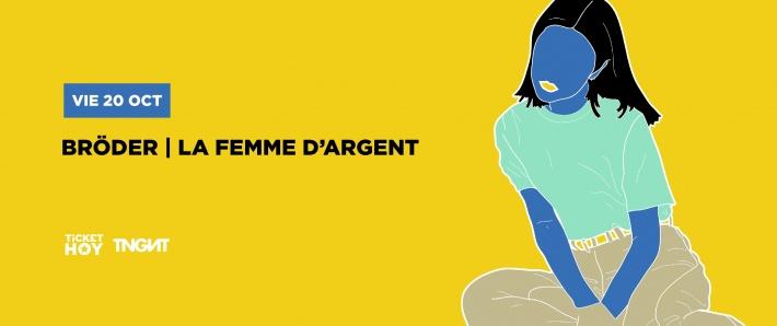 LA FEMME D ARGENT + BRODER