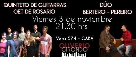 Quinteto de Guitarras de la OET de Rosario + Dúo Bertero-Pereiro