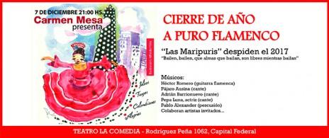 Carmen Mesa despide el año a puro flamenco