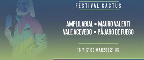 Festival Cactus: sábado 17 - Vale Acevedo + Pájaro de fuego