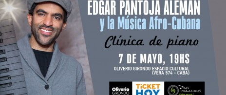 CLINICA DE PIANO -  EDGAR PANTOJA ALEMAN y la Musica Afro-Cubana