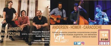 ALEJANDRO MANZONI TRIO & ANDERSEN HOMER CARACOCHE