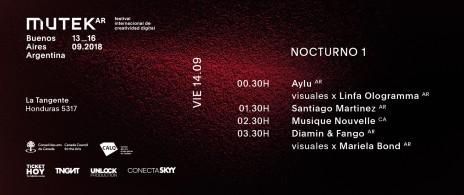 MUTEK Argentina | Edición 2 | Nocturno 1