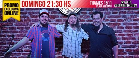 2x1 para Domingo 21 hs - Stand Up en Plaza Serrano