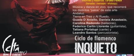 """CICLO DE ARTE FLAMENCO - """"INQUIETO"""""""